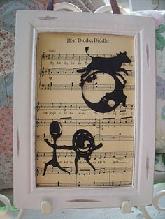 The Cow Jumped over the Moon, The Dish Ran Away with the Spoon - Nursery Rhyme Art