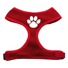 Paw Design Soft Mesh Harnesses Red Extra Large