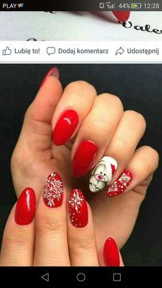 50 Beautiful Stylish and Trendy Nail Art Designs for Christmas Xmas Nails, New Year's Nails, Holiday Nails, Red Nails, Halloween Nails, Christmas Nails, Fancy Nails, Cute Nails, Pretty Nails