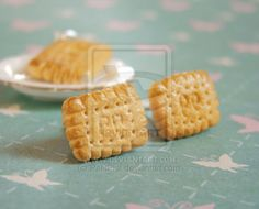 Petit Beurre Cookies Earrings by ~PetitPlat on deviantART