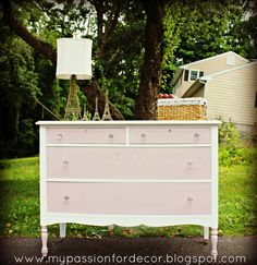 A few weeks ago I bought a dresser on one of my favorite tag sale sites on Facebook.  I loved this dresser because it had the lines, long...