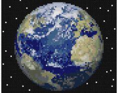 PDF Cross Stitch pattern 0062.Uranus planet INSTANT par PIXcross