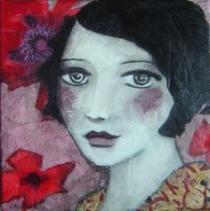 the love of beauty . Painting Collage, Collage Art, Watercolor Paintings, Portrait Art, Portraits, Portrait Paintings, Illustrations, Illustration Art, Foto Transfer