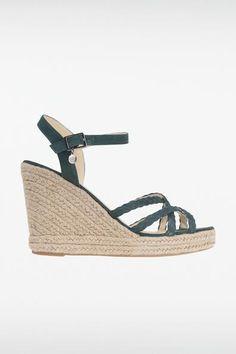 Sandales compensées femme colorées