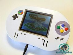 Portable Wooden SNES