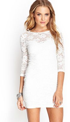 92594604a1 FOREVER 21 Floral Lace Sheath Dress is on sale now for - 25 % ! With