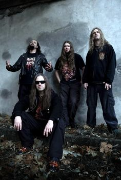 Vader - Death Metal Band from Poland Heavy Metal Music, Heavy Metal Bands, Death Metal, Band Photography, Extreme Metal, Metal Albums, Band Photos, Thrash Metal, Six Feet Under