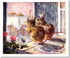 The Tale of Two Bad Mice - 1904 - Two Mice Excited by Food on Table