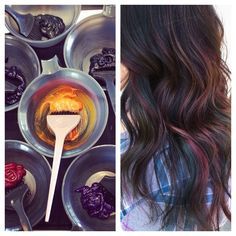 Oil Slick Hair Light Brown Hair, Light Hair, Dark Hair, Blue Hair, Oil Slick Hair Color, Cool Hair Color, Hair Colour Design, Light Brunette, Chocolate Brown Hair