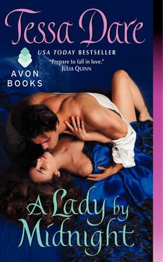 """A Lady by Midnight, by Tessa Dare. Swoon-worthy and steamy ;) excerpt for the ages: """"He spread her frock over the table, carefully layering it between pressing cloths. The muscles of his left arm bunched and flexed as he skimmed the hot iron over fabric, working with care and confidence. She never could have dreamed how arousing this would be--the sight of a massive, shirtless man pressing a gown."""" I've been looking for this hero all my life!"""