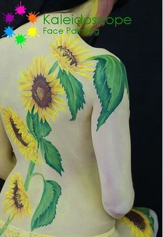 Sunflowers Body Paint | Flickr - Photo Sharing!