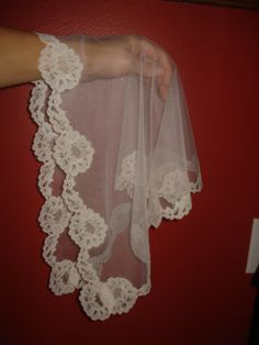 New  off white   lace church mantilla veil by AlanasChurchVeils, $19.99