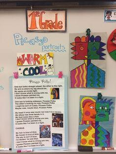 Jamestown Elementary Art Blog: First grade Picasso portraits