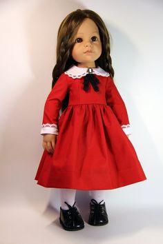 Платья с брошками для кукол Готц 50 см / Одежда для кукол / Шопик. Продать купить куклу / Бэйбики. Куклы фото. Одежда для кукол