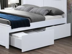 Coco White Hardwood Queen Size Storage Bedroom Suite on Sale for Cheap in Melbourne While Stocks Last! Bed Storage, Bedroom Storage, Queen Bedroom Suite, White Queen, Queen Size Bedding, Cool Furniture, Melbourne, Hardwood, Bed Frames