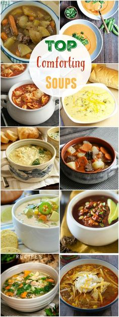 Top Comforting Soups that will get you through the chilly weeks.