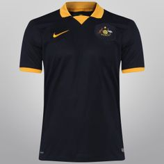 Netshoes - Camisa Nike Seleção Austrália Away 2014 s/nº- Torcedor