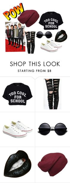 """5SOS GURL"" by kristaly-rodriguez ❤ liked on Polyvore featuring Filles à papa and Converse"
