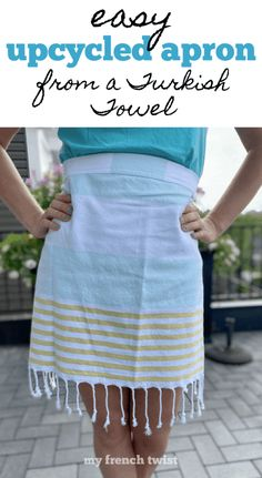 Diy Craft Projects, Craft Tutorials, Sewing Tutorials, Sewing Projects, Craft Ideas, Towel Apron, Crafts To Sell, Easy Crafts, Waist Apron