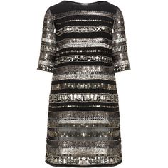 navabi Black Plus Size Sequin shift dress ($385) ❤ liked on Polyvore featuring dresses, black, plus size, see through dress, knee-length dresses, beaded shift dress, chiffon shift dress and plus size dresses