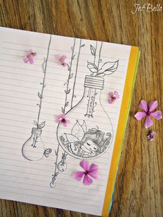 Image about cute in My drawings by JezBelloϟ on We Heart It Girly Drawings, Art Drawings For Kids, Art Drawings Sketches Simple, Pencil Art Drawings, Bullet Journal Cover Ideas, Bullet Journal Lettering Ideas, Bullet Journal Art, Paper Art Design, Mandala Art Lesson
