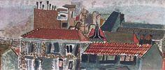 Frantisek Tichy : Catchan ( Paris rooftops ) / 1930-1934 / oil on canvas / 35 x 79 cm Czech Rep.