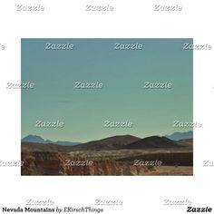 Nevada Mountains Wood Wall Decor