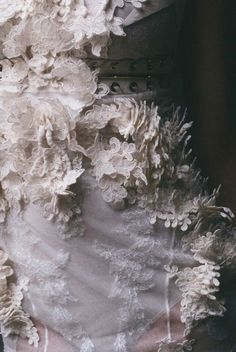 Pale blue dress by Givenchy Haute Couture - Detail Couture Details, Fashion Details, Fashion Design, Textiles, Couture Embroidery, Couture Beading, Lesage, Linens And Lace, Shades Of White