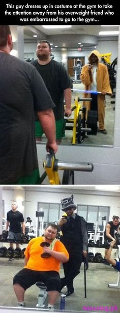 This guy dresses up in costume at the gym to take #Amazing #Humor Amazing.pk