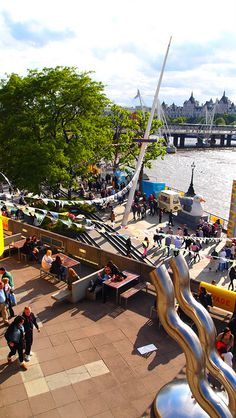QEH, Roof Garden, Southbank, London. It is neat on a sunny day!!!