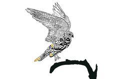 Hunting .arabic calligraphy..