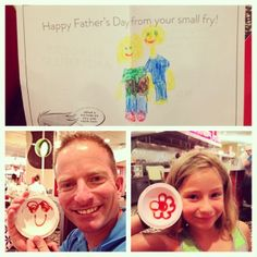 Thanks to all of the small fries who came in and created custom Father's Day cards for their dads! Fathers Day Ecards, Happy Fathers Day, Fries, Dads, Thankful, Fun, Happy Valentines Day Dad, Fathers, Hilarious