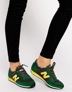 Shop New Balance 410 Suede/Wax Canvas Green Trainers at ASOS. New Balance 410, New Balance Suede, New Balance Shoes, Green Trainers, Green Sneakers, Shoe Boots, Shoes Heels, Baskets, Comfy Shoes