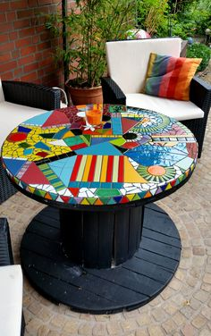 16 Ideas For Diy Table Top Mosaic Projects Tile Art, Mosaic Art, Mosaic Glass, Mosaic Tiles, Stained Glass, Mosaic Garden Art, Glass Tiles, Tiling, Mosaic Crafts