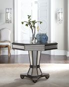 Mirrored furniture... hot or not? I think I'm drawn to how it's both retro and contemporary looking at the same time...