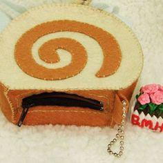 Homemade coin purse of coffee cake #handmade #tutorial #dompet #inspiration #kue #diy #easy