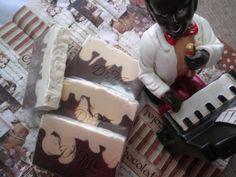 Jabón de chocolate blanco y negro