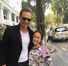 Tom with a fan in Vietnam