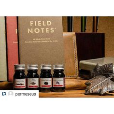Regram from @permeseus ・・・ Mail: trying out #jherbin #inks - lots of #browns to go around. @fieldnotesbrand #ambition and @leuchtturm1917 #notebooks.  Most excited about the @popovleather #notebookcover. Have a great weekend everyone! #jetpens #gouletpens