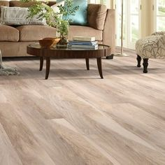 "Shaw Floors Grand Summit 8 ""x x mm Hickory-Laminatboden - Bodenbelag Laminate Flooring On Stairs, Basement Flooring, Wood Laminate, Plank Flooring, Hardwood Floors, Flooring Ideas, Modern Flooring, Vinyl Flooring, Flooring Types"