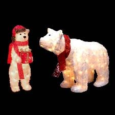 1000 images about polar bear christmas on pinterest for Animated polar bear christmas decoration