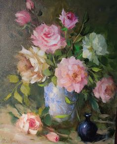 "Indigo Fine Art Gallery ""Mixed Roses"" by Hedi Moran"