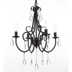 Wrought Iron and Crystal 4 Light Rustic Chandelier Pendant Light Fixture Lighting Ceiling Lamp Hardwire and Plug in Ceiling Light Fixtures, Pendant Light Fixtures, Ceiling Lamp, Ceiling Lights, Rustic Chandelier, Chandelier Pendant Lights, Kitchen Chandelier, Black Chandelier, Iron Chandeliers