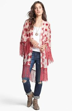 Free People Burnout Fringe Robe | Nordstrom