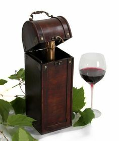 Wine Box Gift Box Wood Box Treasure Chest by Keller International. $9.00. Hard wood. Great gift item. Brass fixtures. Create the perfect gift or display!      Wonderful gift item     Antique stained hardwood     Holds wine bottles & more!     Travel Box  Description Travel in style and create the perfect gift. Use for display and more. Holds 1 bottle of wine. Product Dimensions: 5 x 5 x 14 inches  *display wine glass shown not included.