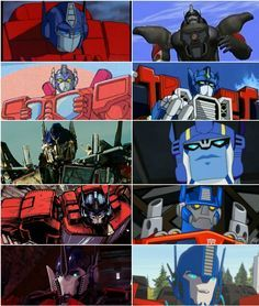 The many faces of Optimus Prime