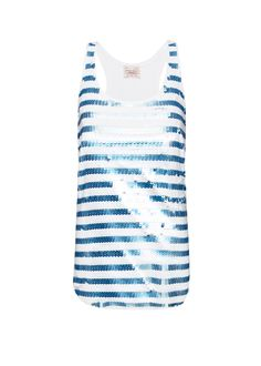 Striped sequins top by MANGO