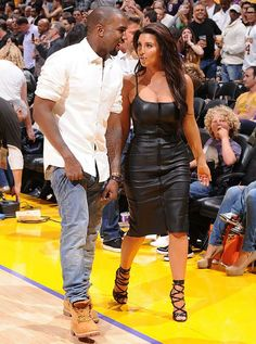 Kim Kardashian looked like she was sitting front row at Fashion Week instead of courtside at game seven of the NBA Western Conference Quarterfinals.