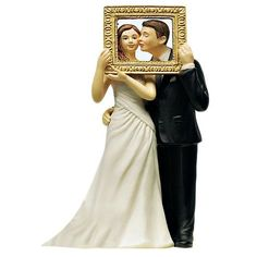Picture Perfect Couple Wedding Cake Top - Candy Cake Weddings