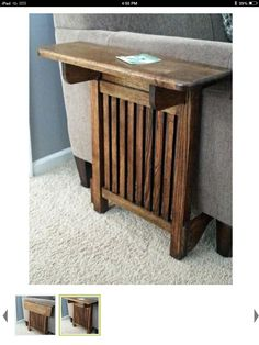 Not a pallet project but simple enough to be one. Find link at ryobi.com heading Space Saving End Table
